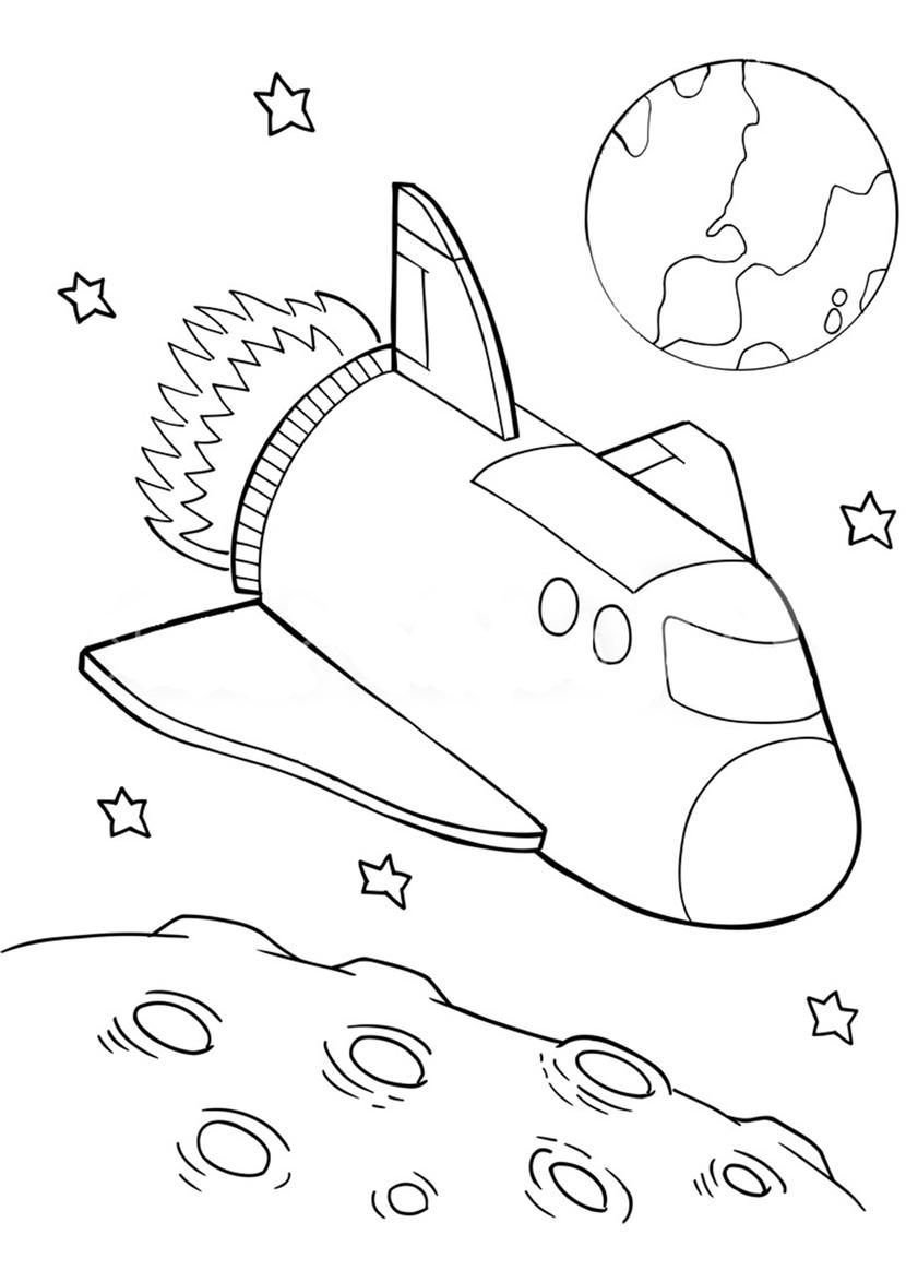 Раскраски для детей космос, космонавты, планеты ...